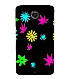 printtech Flower Weed Pattern Back Case Cover for Motorola Google Nexus 6