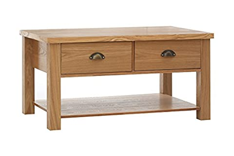 Premier Housewares Westbury Coffee Table, Oak/Wood - Natural