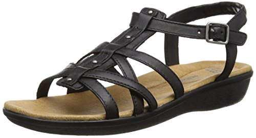 Clarks Manilla Bonita - Sandalias para mujer, color black leather, talla 36