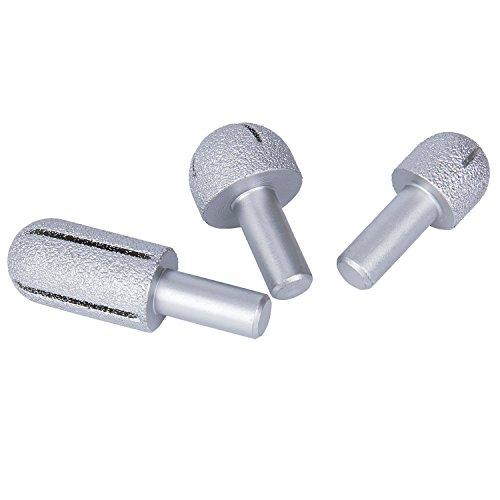 3Radius 12mm 12mm 15mm rund Vakuum eingelötete Diamant Router Bits Fräser Klinge für Stein Marmor Granit Keramik Kunststoff, 1/5,1cm - Stein Maschine Carving