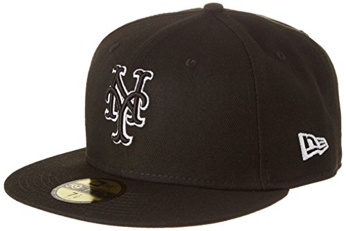 New Era Herren League Basic FIT2 NEYMET BLK Cap, Black, 7 14-57,7cm (M) (New York Mets)
