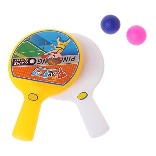 Lamdoo Tragbarer Mini-Tischtennisschläger mit 2 Ping Pong Schlägern Bällen Kinder Spielzeug -