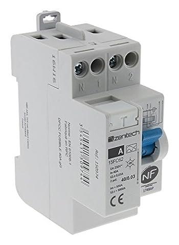 Zenitech - Interrupteur différentiel 40/2 30 mA Type A