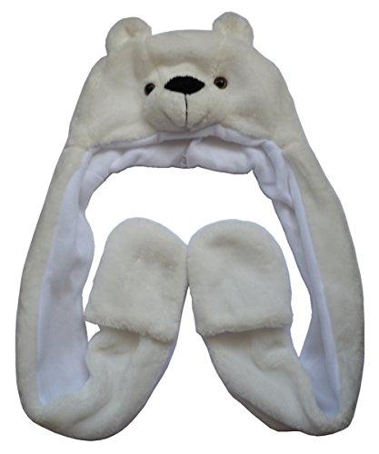 Muster Kostüm Eisbär - JOYHY Unisex Kinder Winter Plüsch Kostüm Hut mit Pfoten Tier Hüte Eisbär