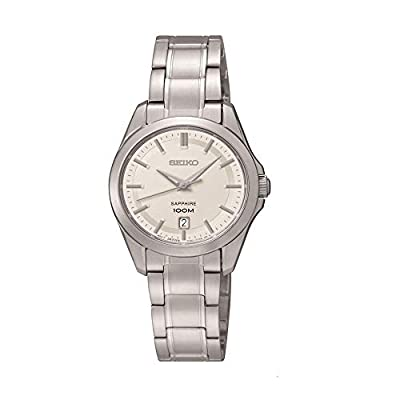 Seiko Damenuhren SXDF55P1 - Reloj analógico de Cuarzo para Mujer, Correa de Acero Inoxidable Color Plateado