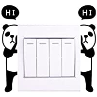 leading star CHEAP FASHION Practical Home Mural Panda Switch Sticker Wall Quote Wall Stickers Vinyl Decor Decals by leading-star
