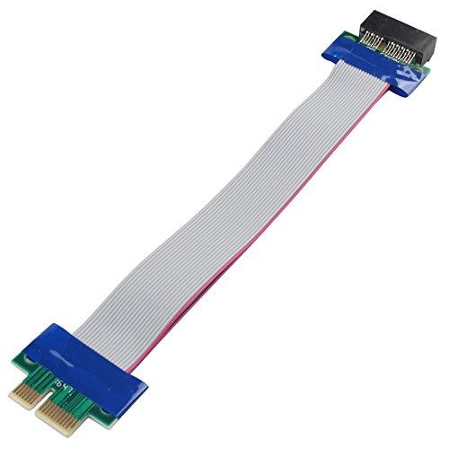 haljia PCI-Express PCI-E 1X Slot Riser Karte Adapter Flex Extender Verlängerung umstellen Kabel Band mit flexiblem Kabel