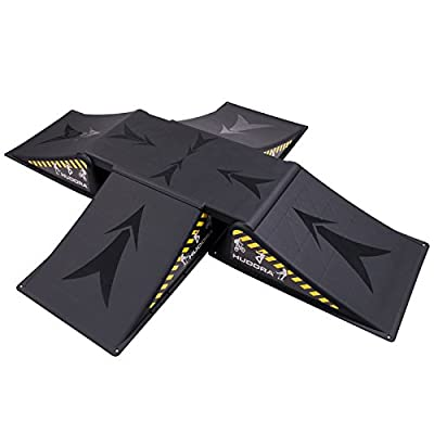 HUDORA Skater Rampen Set 5-teilig 154 x 121,5 x 16,5 cm Skaterrampe Skateboard Inlineskates Rampe