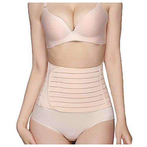 Mirecoo Damen rückbildungsunterstützende Bauchbinde Bauchweg Gürtel Bauchband