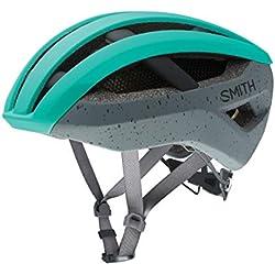 SMITH Network MIPS Casque de vélo Adulte Unisexe, Matte Jade CHARCOALS, m