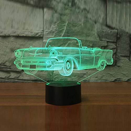 Kühle Cabrio Auto 3D Lampe 7 Farbwechsel Led Nachtlicht Illusion Lampe Licht Schlafzimmer Beleuchtung Für Kinder Spielzeug Geschenk Touch Schalter Cabrio Remote-auto