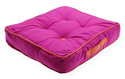 Matratzenkissen Bi Color Sitzkissen Sommer Stuhlkissen Kissen Auflage ca. 40x40x8 cm #1544 pink
