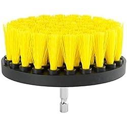 Elektrischer Bohrer Bürste, mamum Elektrischer Bohrer Bürste Mörtel Power Scrubber Reinigungsbürste Badewanne von Werkzeug Einheitsgröße B (4 Inch)