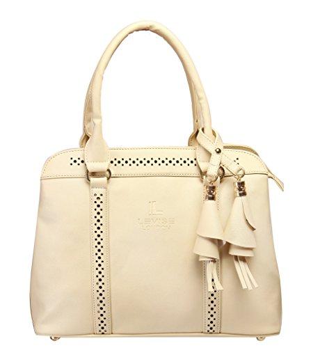 LEVISE LONDON Women\'s Handbag(Off White,LL-0045)