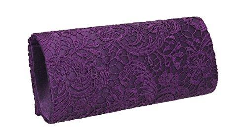 SwankySwans , Damen Clutch Lila violett violett