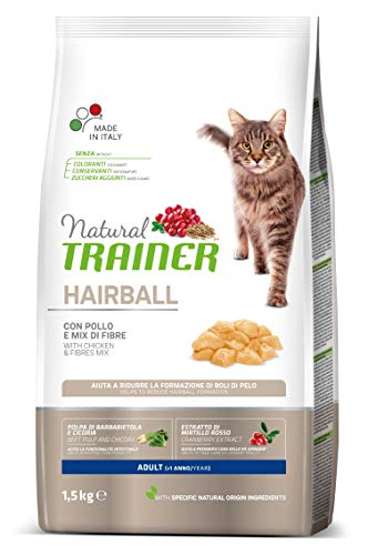 Trainer Natural Cat Hairball Adult con Pollo 1.5 kg X 6-9000 Gr