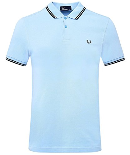 Fred Perry Men's Twin Tipped M3600 Polo Shirt Sky