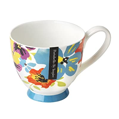 Portobello CM03418 Footed Carnival Flower Fine Bone China Mug