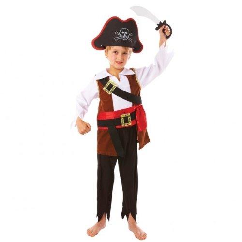 Kostüm Pirat Seeräuber , 4-teilig mit Hut & Säbel, 104/110 (Kostüme Junge Piraten)
