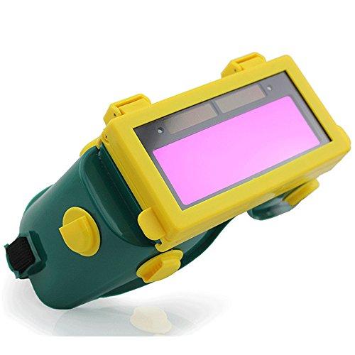 E Support™ Solar Schweißmaske Schweißhelm Automatik Schweißschirm Schweißschild verdunkelnd Len 05