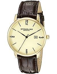 Stührling Original 997L.03 - Reloj analógico para hombre, correa de cuero, color marrón