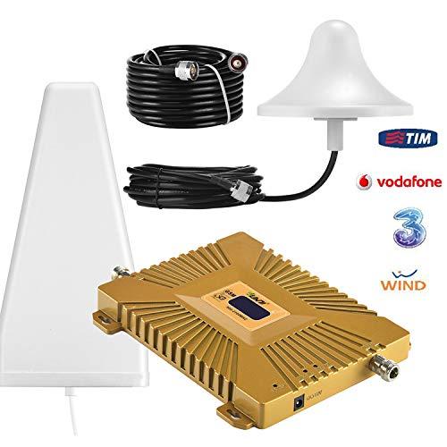 Yuanj Handy Signalverstärker, 900/2100 MHz Band 1/8 für Telefon T-Mobile D1 Vodafone D2, Handynetz Signal Verstärker mit Außenantenne & Omni-Innenantenne - Handy Signalempfang Verstärkung (Drahtlose Handy-booster)