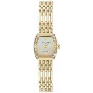 Rotary LB10223-40 Ladies 9ct Gold Watch With Diamond Set Bezel