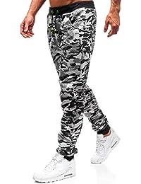 BOLF Pantaloni – Di tuta – Sportivi – Jogger – Motivo mimetico - Cerniera –  Da 20a236954192
