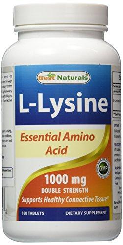 Best Naturals L-Lysine 1000 mg 180 Tablets
