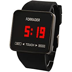 Forrader® 0950 Touch Screen Digital LED Waterproof Boys Girls Sport Casual Wrist Watches Black