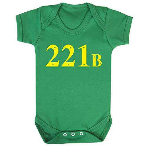 Cloud City 7 221B Baker Street Sherlock Holmes Address Baby Grow Short Sleeve (Kostüm Sherlock Baby Holmes)