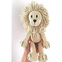LOOP BABY gehäkelter Löwe Leo aus Bio-Baumwolle - handgemachtes Kuscheltier - Plüschtier Löwe