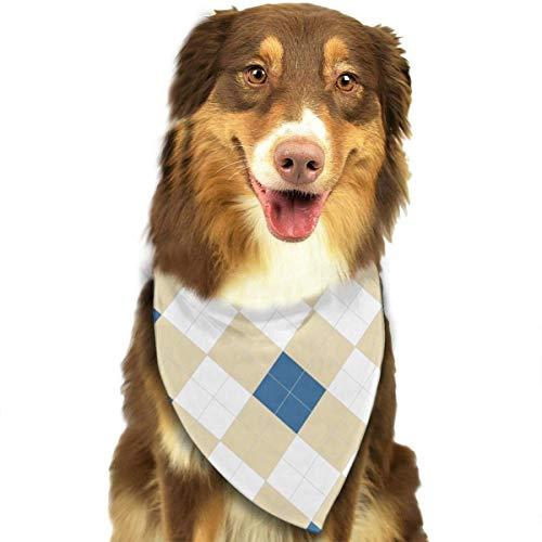 hgdfhfgd Blau Gelb Weiß Plaid Mode Weiche Bequeme Hundekatzen Bandana Bunte Designer Welpen Lätzchen Kopftuch