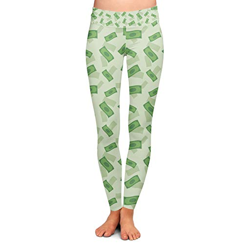 Queen of Cases Dollar Bills Yoga Leggings - 2XL (Case Bill Dollar 2)