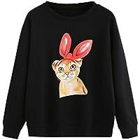 Basic Sweatshirt Damen Katze Drucken CLOOM Schöne Mantel Baggy Kapuzenpullover Minimalismus Hoodie Niedlich Bluse... preisvergleich bei billige-tabletten.eu