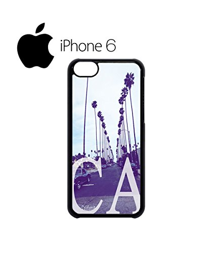 California CA Palm Springs Trees Swag Mobile Phone Case Back Cover for iPhone 6 White Noir