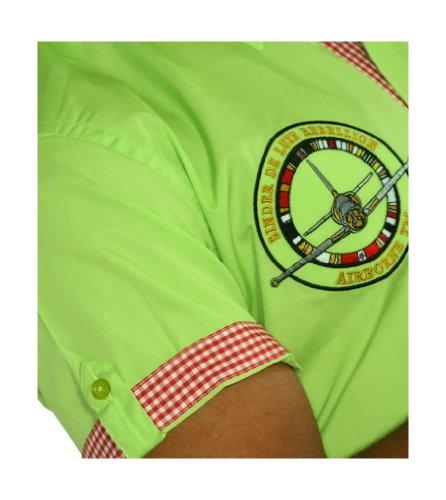 Binder de Luxe Herren Kurzarm Hemd modern fit Grün