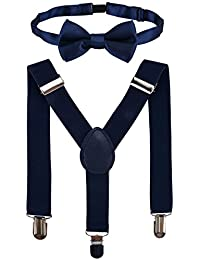 Clothera Suspender and Bow Tie Set for Kids 5 to 15yrs
