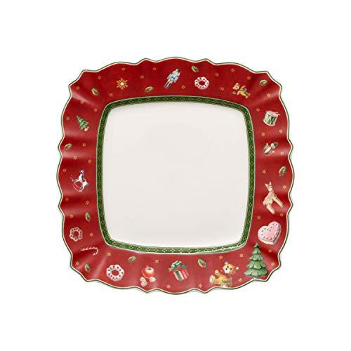 Villeroy & Boch Toy's Delight Plato de desayuno, rectangular pequeño de Premium Porcelain,...