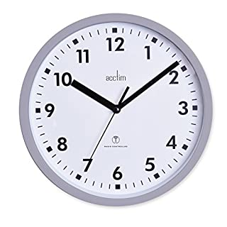 Acctim 74667 Nardo 20cm Radio Controlled Grey Wall Clock
