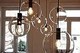 LintaiHousewares Moderne Boule En Verre Plafonnier Luminaire Suspendu Plafonnier Lustre (9.8 inches, Copper)