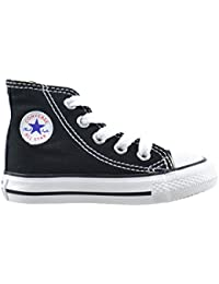 Converse All Star CT Infants Baby Toddlers Canvas Black/White 7j231 (10 M US)