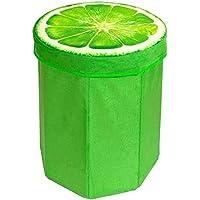 Tischdeckenshop24 Sitzhocker Lemon in TOP-Qualität, 45x35x35 cm, mit Stauraum, Faltbarer Hocker in der Farbe grün, für Kinder und Erwachsene preisvergleich bei kinderzimmerdekopreise.eu