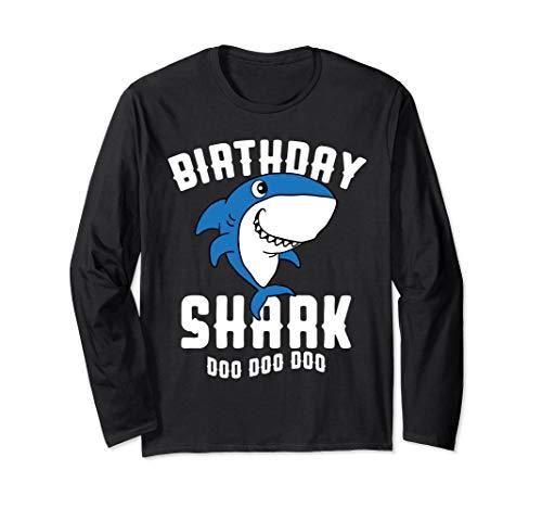 Boy Shark Kostüm - Geburtstag Shark Boy Daddy Halloween Weihnachtsgeschenk Langarmshirt