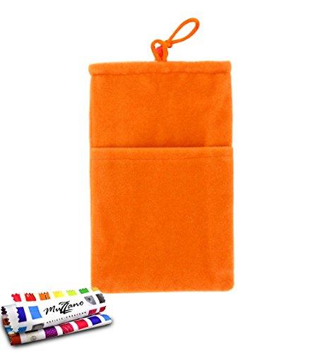 Original MUZZANO Cocoon, per Apple iPhone 5S, colore: arancione - Original Style Velour