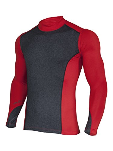 Sub Sports Herren Thermo-Langarmshirt / Unterhemd, Kompressionspassform - Rot - Medium (Thermal Performance Run Tight Die)