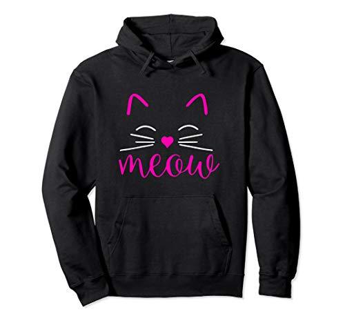 Cat Kostüm Lady Halloween Crazy - Meow Niedliches Katzengesicht Lustiges Kostüm Pullover Hoodie