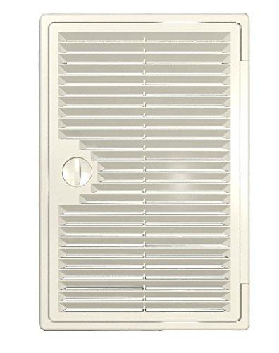 300x400mm Revisionstür mit Lüftungsgitter, Revisionsklappe, Inspektionstür, Zugangstür, Ventilation Gitter Abluftgitter Entlüftung (300x400mm, Weiß)