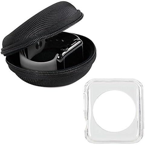 DURAGADGET KIT DE REGALO - Funda / Carcasa Flexible Transparente Para Apple Watch Sport / Series 2 / Nike+ / Hermes / Edition 42 MM + Estuche Rigido Protector - 100% Calidad - ¡2 Años De Garantía!…