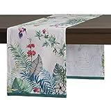 Maison d' Hermine Tropiques 100% Boumwolle Tischläufer 50 cm x 150 cm